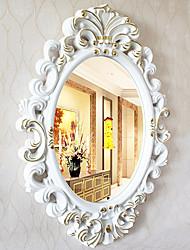 "30 ""blanc élégant Et Floden style floral Wall Mirror"