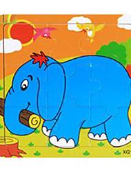 Linda elefante dos desenhos animados impressão Puzzles (9pcs)