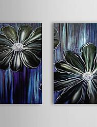 Peint à la main peinture à l'huile maman florale avec cadre étiré Lot de 2 1311-FL1031