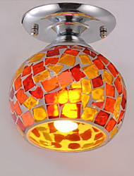 Flush Mount, 1 Lumière, Creative Glass de galvanoplastie