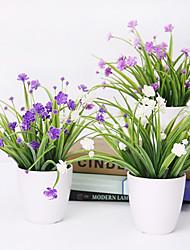 """10 """"Фиолетовый Лепестки договоренности с белой вазе"""