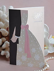 """Bride & Groom Hand in Hand"" Wedding Invitation (Set of 50)"