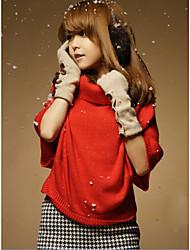 INNA Frauen Red High Neck Sweater