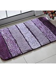 "Bath Rug Purple Stripe 20 x 31"""