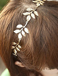 5 Leaves Gold Metal Leaf Headband Hair Band Fashion Hair Accessories