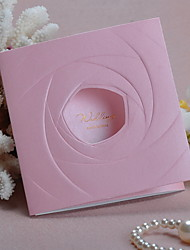 Pink Rose Wedding Invitation - Set of 50