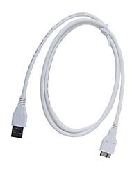 ULT-4217 USB3.0 B High Speed données du disque dur Câble AM-Micro de connexion - Blanc (1m)