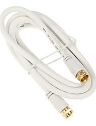 jsj® 1.8m 5.904ft coxial f-type mâle à mâle câble CCTV