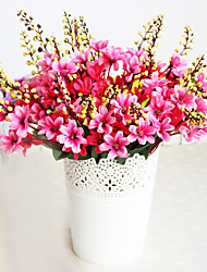 """13.75""""Pink Red Daisy Arrangement With Metal Vase"""