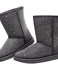 Damen Winter Mid-Calf Rivet Boots