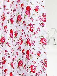 "Shower Curtain Colourful Flower Print W78 x L71"""