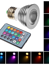 Remote-Controlled Spot Lights , E26/E27 W LM RGB AC 100-240 V
