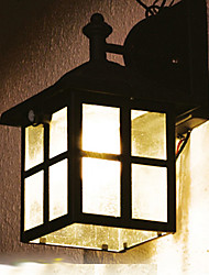 Vintage di movimento PIR sensore solare LED Light Wall luci da giardino in Little House Forma