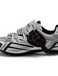 TIEBAO Unisex Road Bike Cycling Shoes with Fiberglass Sole and PVC Upper