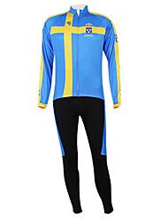 Kooplus2013 Campeonato Suécia Jersey poliéster e Lycra e elástico Ciclismo Suits Tecido (camisa + calça)