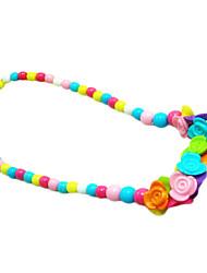 Kleurrijke Plastic acryl Bloem kralen ketting voor Huisdieren Honden (willekeurige kleur)