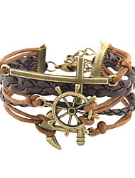Anchor Cross Brown pulsera