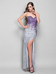 Formal Evening/Military Ball Dress - Regency Sheath/Column Strapless/Sweetheart Floor-length Sequined