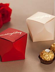 Boîtes de noces de diamant de faveur - Ensemble de 12 (plus de couleurs)