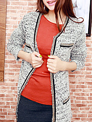 Folli Long Knit Cardigan With Golden Chain