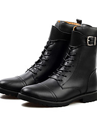 Moda Genuine Leather Boots Uomo JPW Con Stringa (nero)