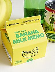 Carton de lait carnet de notes Mémo Sticky Notes (couleur aléatoire)