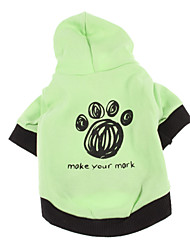 Dog Hoodie Dog Clothes Casual/Daily Cartoon Green