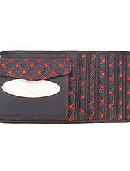 Rot und Schwarz Grid PVC-Gewebe-Kasten