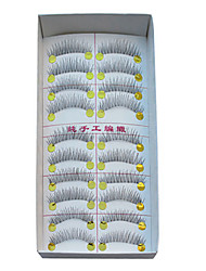 10 Pairs European Microfiber Black False Eyelashes