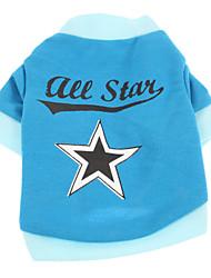 Hunde - Sommer - Baumwolle Blau - T-shirt - XS / S / M / L
