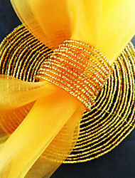 Runde Serviettenring Set von 6, Acrylperlen Ø 4,5 cm