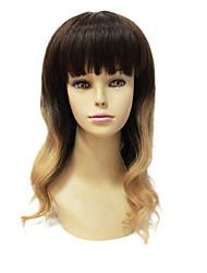 Sexy Mono Top 100% Remy Cheveux courts long ondulé de couleur de gradient perruque de cheveux