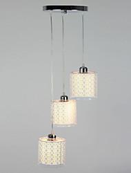 pingente, 3 luz, metal moderno pintura em tecido