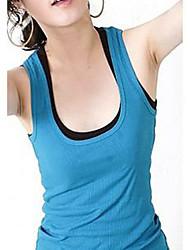 Moda feminina tecido de algodão Rib Regatas
