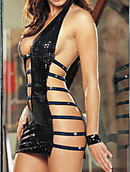 LoveTime European-Styled Sexy Lingerie Sexy Short Shirt(Black)