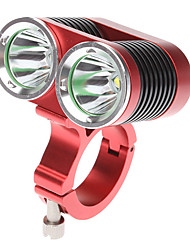DARK KNIGHT K2C 4-Mode 2xCree XM-L T6 LED Bicycle Flashlight (2400LM, 4x18650, Red)