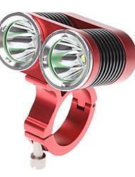 Luces para bicicleta Luz Frontal para Bicicleta LED Cree XM-L T6 Ciclismo Recargable 18650.0 2400 Lumens Batería Ciclismo