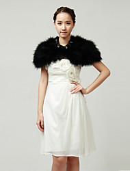 Ostrich Fur Hochzeit / Party Wraps / Jacken mit Strass (weitere Farben)