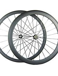 Larghezza di 25mm 700C Full Carbon 38 millimetri anteriore 50 millimetri posteriori graffatrice della bici della strada / Ruote bici