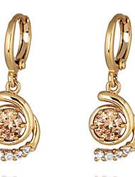 Boucles d'oreilles en or 18 carats Zircon ER0230 de Yueli femmes