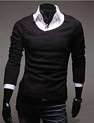 Hombres camiseta retro bolsito Delgado Knit Cardigan