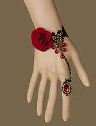 Bijoux Gothique Bague Rétro Rouge Accessoires Lolita  Bracelet Bague Lace Pour Tissu non tissé Gemmes artificielles