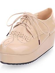 Zapatos de mujer - Plataforma - Plataforma / Creepers - Oxfords - Casual - Cuero Sintético - Negro