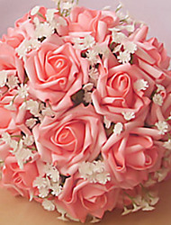 """Wedding Flowers Round Roses Bouquets Wedding / Party/ Evening 8.66""""(Approx.22cm)"""