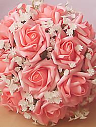 """Bouquets de Noiva Redondo Rosas Buquês Casamento / Festa / noite 8.66""""(Aprox.22cm)"""