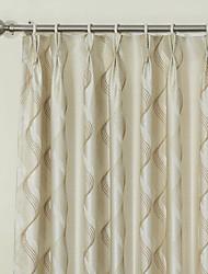 (Dos paneles) de Paisley rococó elegante jacquard de color beige cortina de ahorro de energía