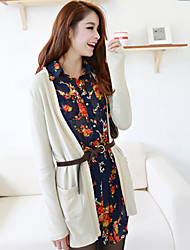 Folli Thin Long Knit Coat