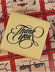 3 Styles DIY Thank You PatternWood Alphabet Stamp
