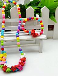 Ensemble de bijoux Acrylique Forme de Fleur Spot Multicouleur Arc-en-ciel Écran couleur Soirée 1set 1 Collier 1 BraceletCadeaux de