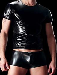 T-shirt couro envernizado Sexy